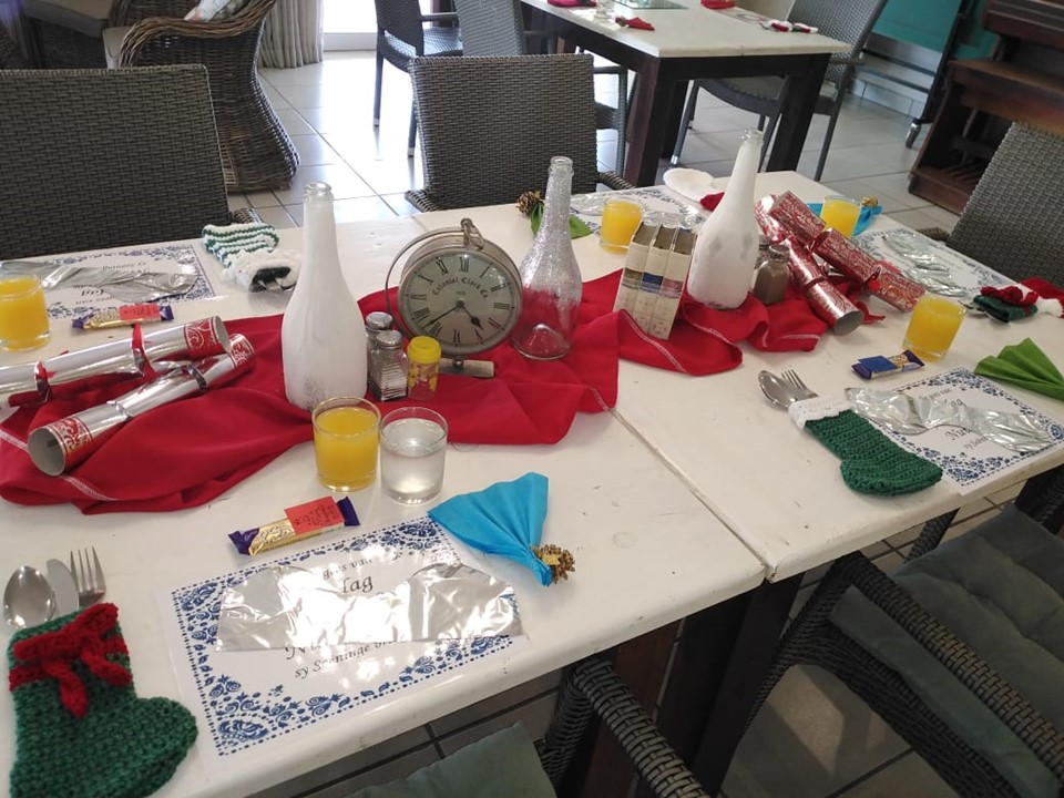 Christmas-themed lunch at Macadamia Care in Polokwane