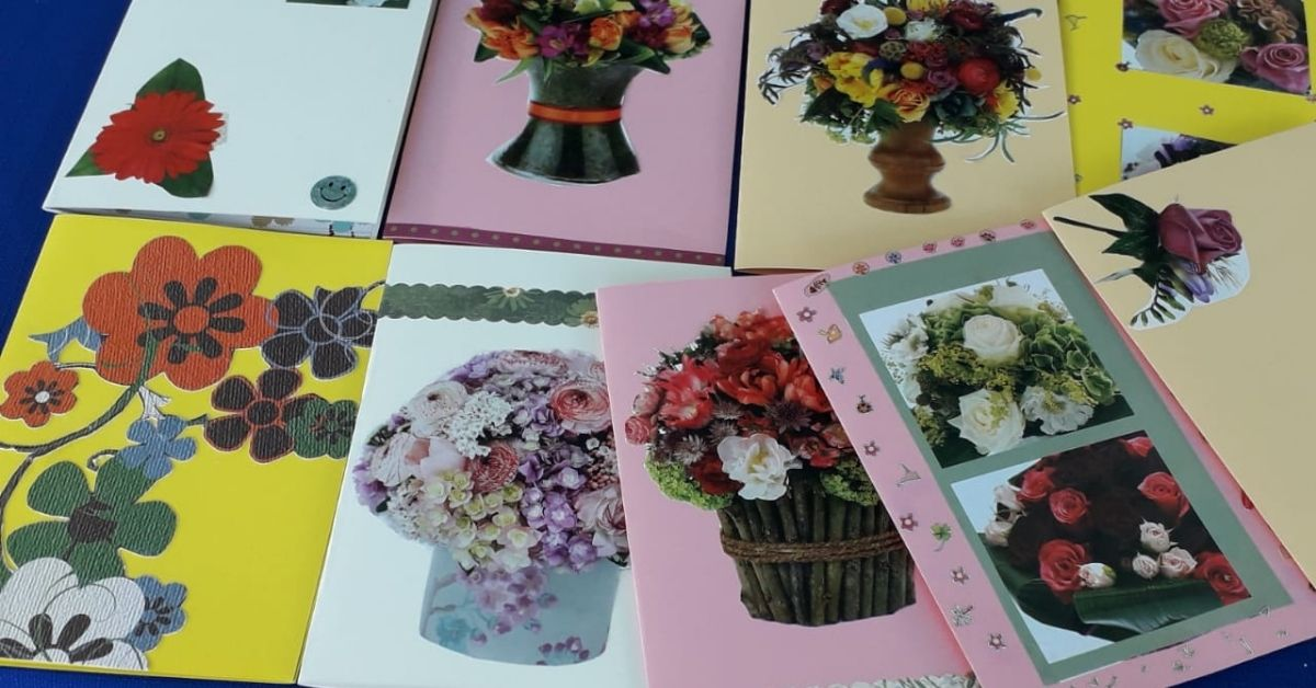 The benefits of card making at Macadamia Care in Nelspruit, Mpumalanga